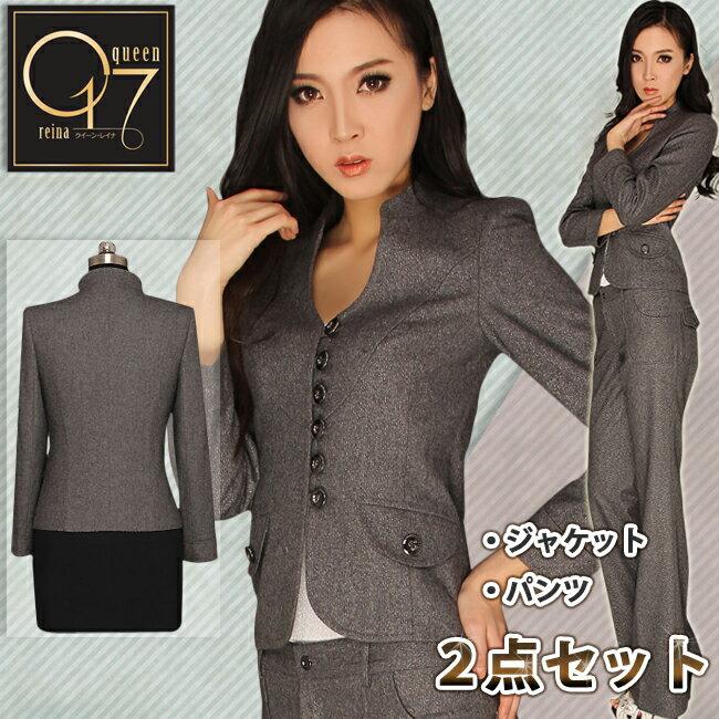 15abc1c681c09 ラウンドカラーのスーツ□ 商品内容:ジャケット+パンツ薄手のウールで春、秋、冬のシーズン向けで可愛らしく個性的でスタイリッシュなパンツスーツ♪