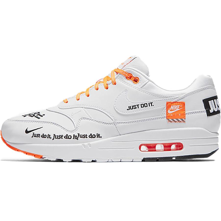 Nike Air Max 1 SE JDI Just Do It Total Orange White Black Running Men AO1021-800