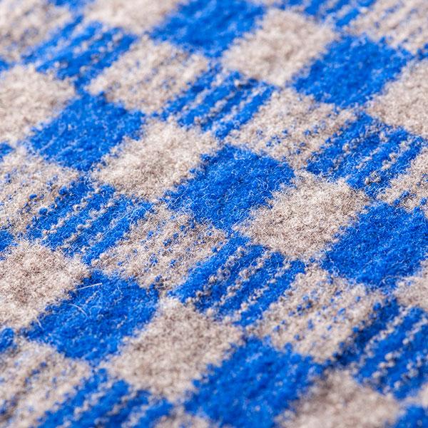 松井编织物技研羊毛毡市松花纹围巾