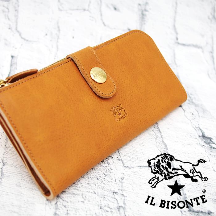 dee4b2f179db 商品説明ナチュラルなヌメ革による上質なレザーグッズで知られる IL BISONTE(イル?ビゾンテ)から2018AW秋冬最新作の長財布の入荷。  正面にブランドロゴが型押しされ ...