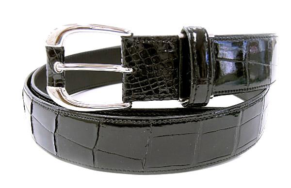 6fb576ab54e7 CROCODILE 1343-2クロコダイル 紳士ベルト ブラック 日本製 正規品・新品・未使用品