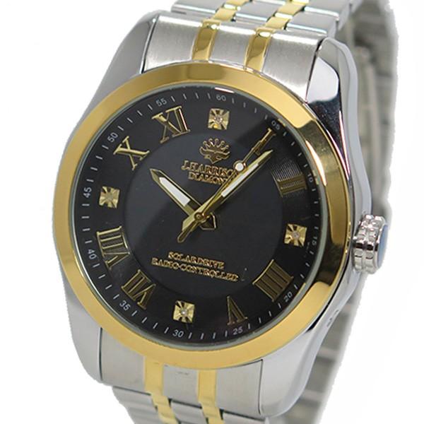 约翰· 哈里森太阳射电手表男式手表 jh 096mgb 青铜色和金色