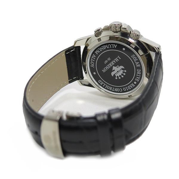 约翰· 哈里森太阳射电手表男式手表 jh 097sb 银