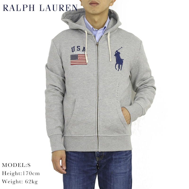Polo Ralph Lauren USA American flag 67 sweater NWT red white blue Large 14 16
