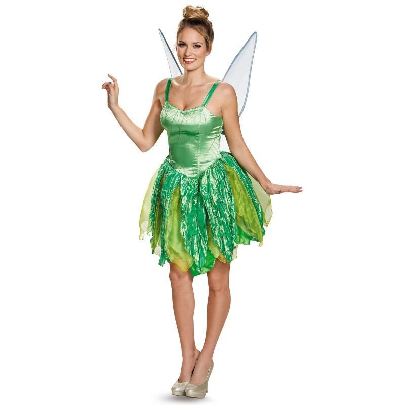 c2854d1fe6288 ティンカーベル 衣装 大人 ドレス コスプレ コスチューム プレステージ版  通常便なら送料無料 きめ細やかな素材が美しい ディズニー 公式ティンクの羽根付衣装