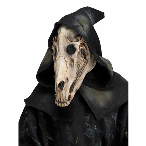 马女生头骨cosplay服装节马万圣骷髅面具服装厚背图片
