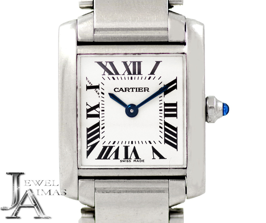 new product ff310 74e50 電池交換済み】【Cartier 低価格】カルティエ エメラルド タンク ...