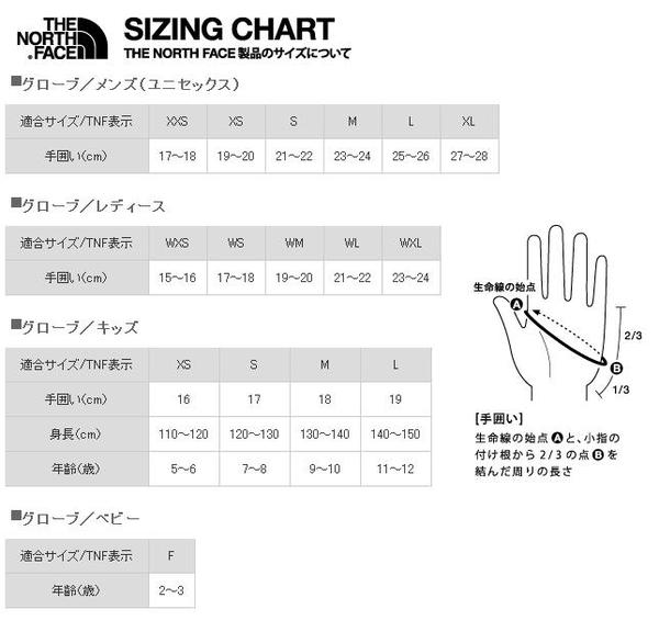 85d383e63e North Face Gloves Size Chart Best Picture Of Anyimage