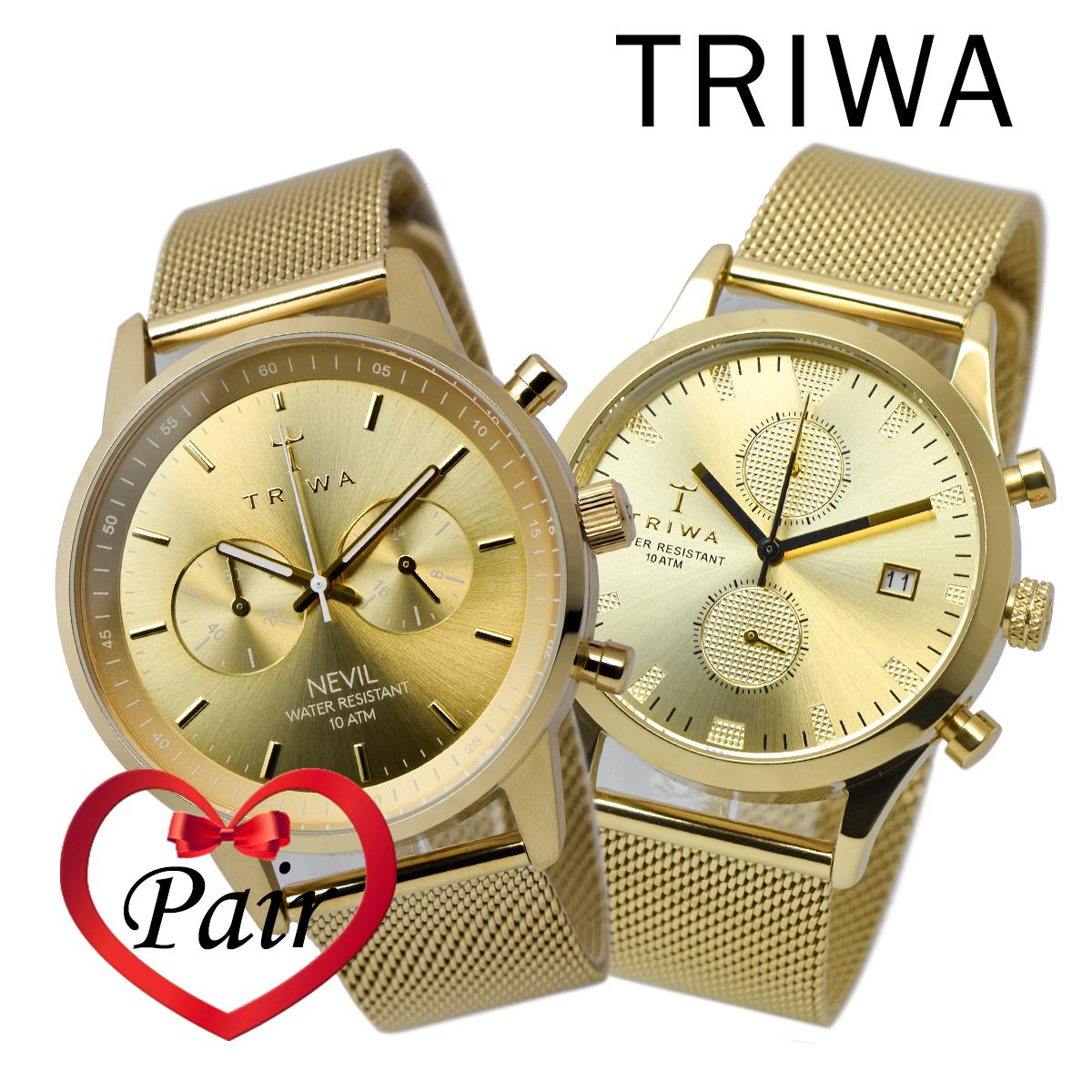 d562e25286 トリワ TRIWA ネヴィル NEVIL,ランセンクロノ Lansen Chrono NEST104-ME021313  LCST109-ME021313 ペア 時計 腕時計 トリワ 海外正規品 送料無料