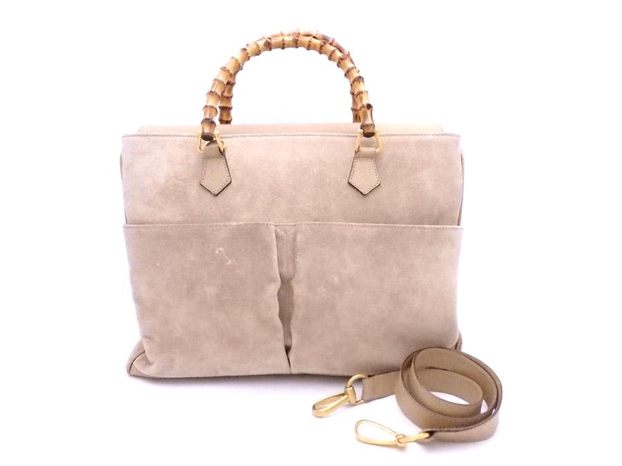 wholesale dealer 79a07 8a26d グッチ Gucci 2Wayバッグ バンブー オンライン ベージュx ...