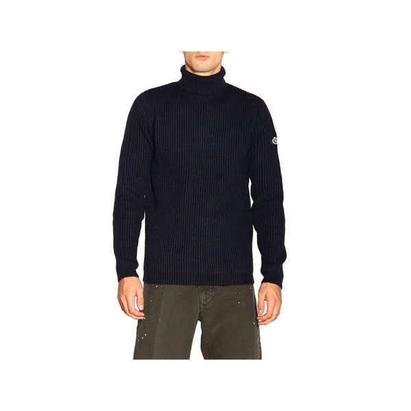 YUNY Mens Knitted Polo-Collar Slim Pullover Fake Two Pieces Sweaters Dark Grey S
