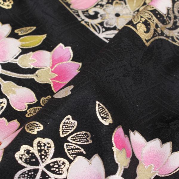 织花绸缎纱绫形织物上的花纹钱彩加工刺绣长袖和服fs250