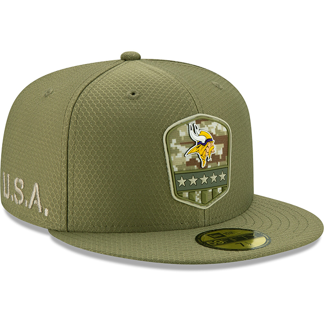 PLATINUM Sideline Minnesota Vikings New Era 59Fifty Cap