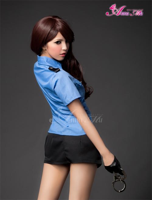 角色扮演警察 cosplay 服装警察迷你裙警察特警女士美女缔约方会议