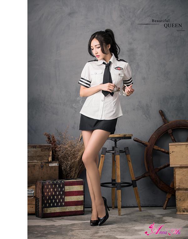 万圣节服装警察女警察 cosplay 服装迷你裙警察 z806 黑人警察制服