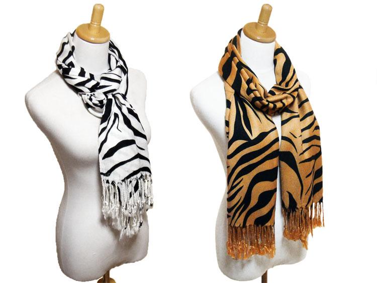 斑马图案彩色围巾棉,棉 uv 措施纱布女装春 uv 紫外线切大幅面 uv