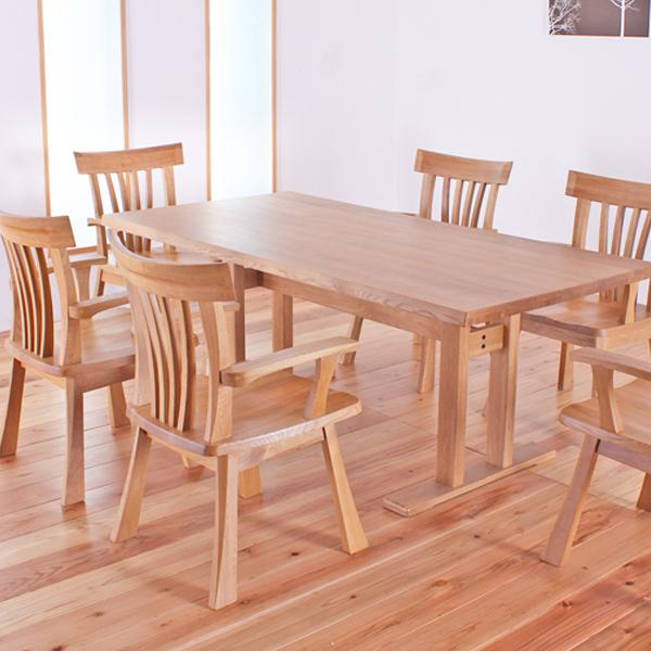 ダイニングテーブルセット 幅180cm 本革 7点セット 6人掛け チェスト