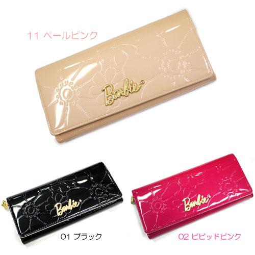 594565eea252 【送料無料】Barbie/バービーかぶせ長財布 光沢のあるエナメル素材がお洒落な長財布です!