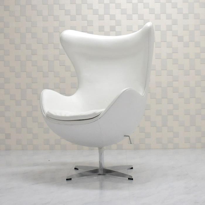 供鸡蛋椅子/牛皮皮革式样白/阿尔内·雅各布森/新货eggchair设计师