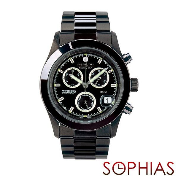 d72b1e5d92 ... ウェンガー | スイスミリタリー | モンディーン | ハミルトン | 記念品 | スイスミリタリー 腕時計 ML247 エレガントクロノ  ブラック メンズ | 長期保証5年付