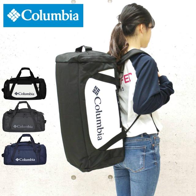 0cac948ff7f8c2 Columbia(コロンビア) ボストンリュックボストンバッグとリュックの2way仕様! 容量40Lのボストンリュック。  素材にコロンビア独自開発の撥水機能「オムニシールド」 ...
