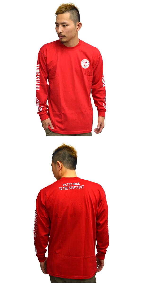 thuglife 暴徒生活长袖 t 衬衫 thugshark sagshark proclb 红色的 x