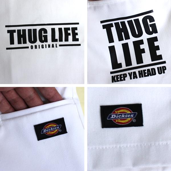 thuglife / 暴徒生活短裤暴徒角形状短裤 / 白色超过大小的自定义工作