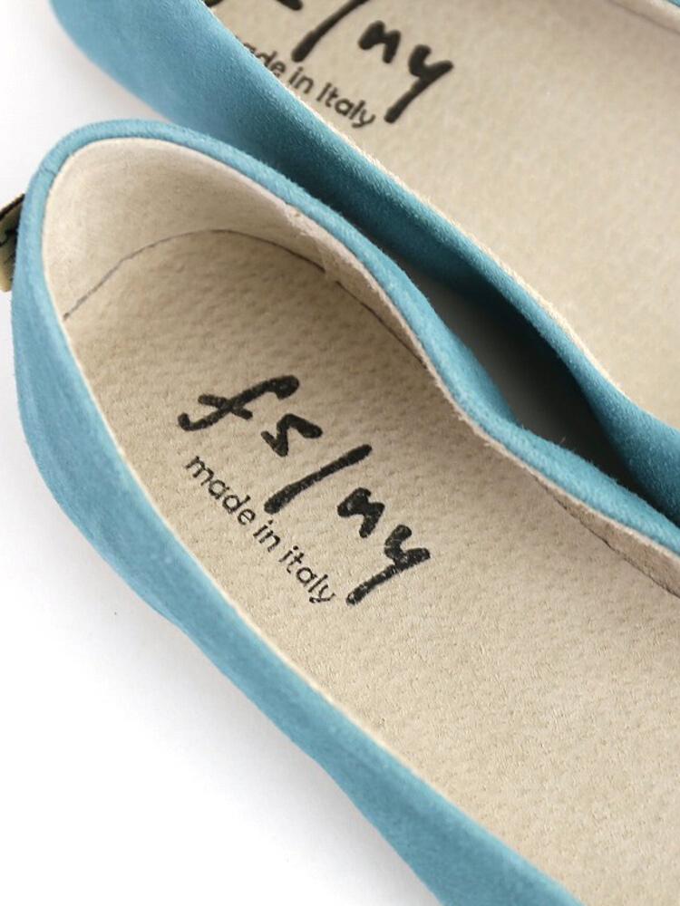 "�yf�y/�:+N{��_fs/ny(f s切n y)反毛皮革平地芭蕾舞鞋""clicksuedecolor""/c"