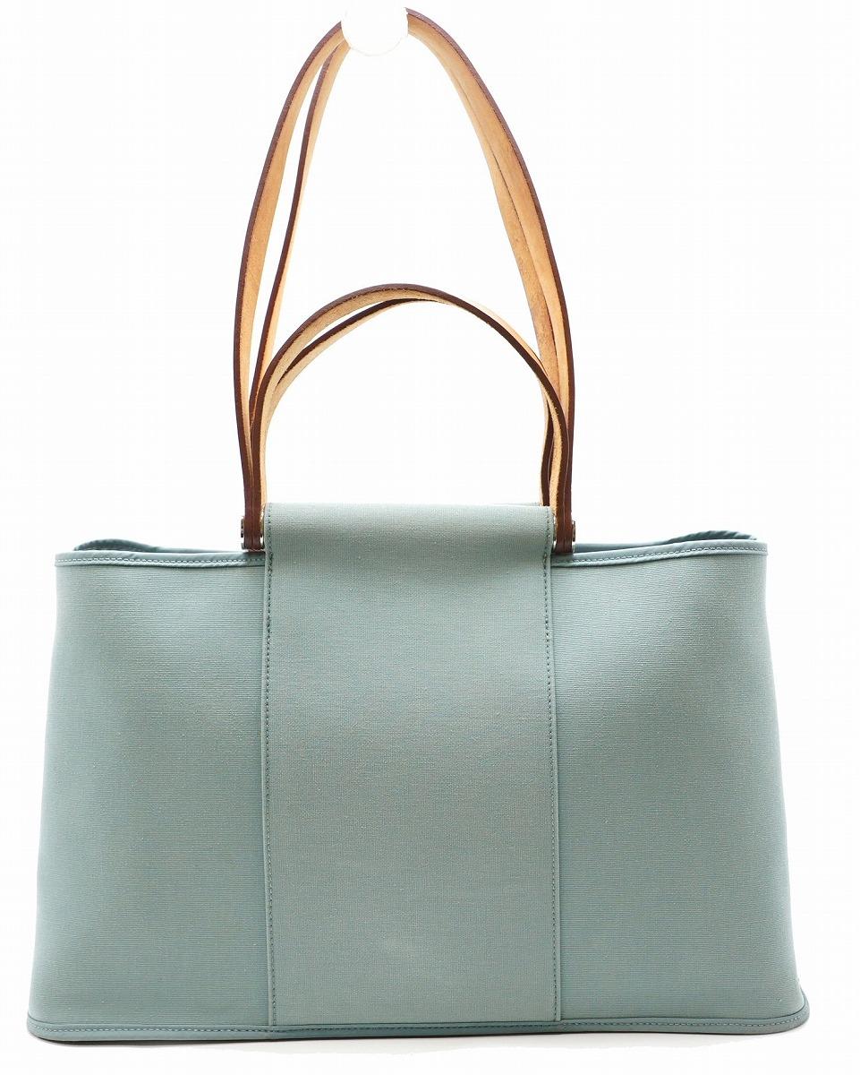 a1545bc38718 【サイズ】 W38cm H24cm D15cm 【材質】 トワルオフィシエ/カーフ【カラー】 ライトブルー【付属品】 保存袋