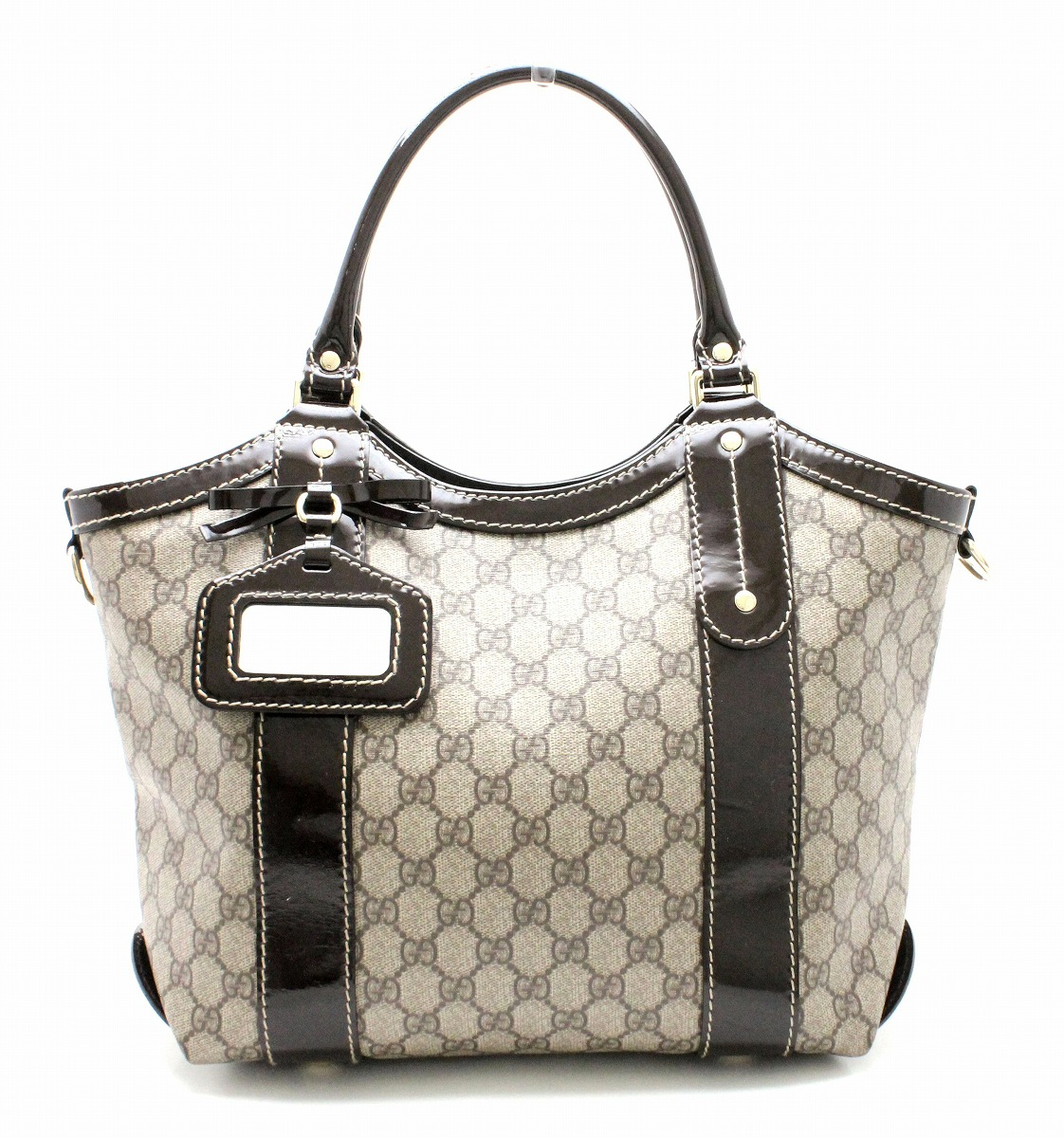 low priced c828c a7aac バッグ】GUCCI ヴィトン グッチ GGプラス トートバッグ ...