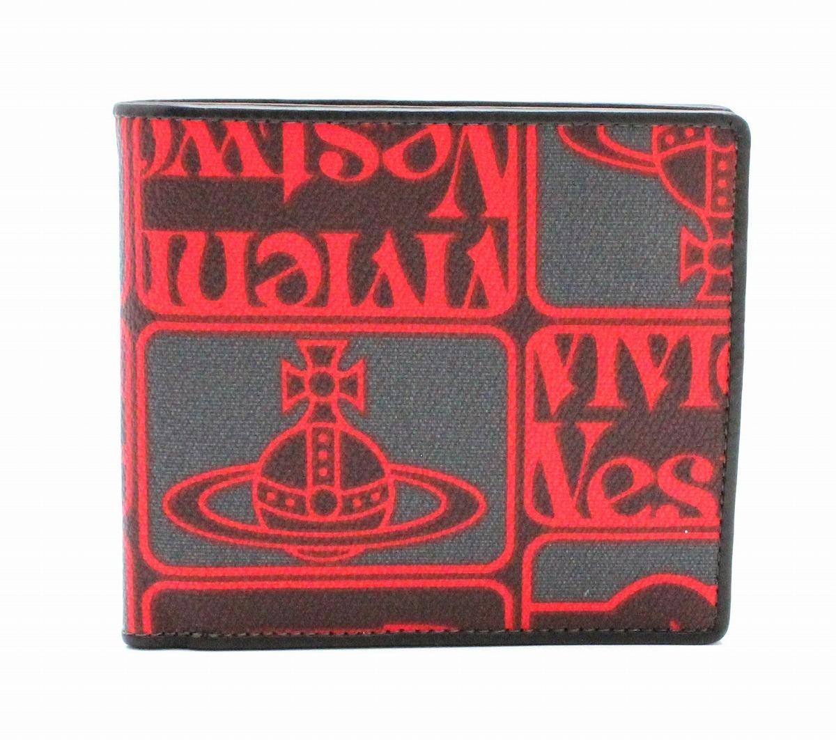 8155790bd83c ... セール | フランクミュラー | 財布 | Vivienne Westwood ヴィヴィアン ウエストウッド オーブ 2つ折 財布 PVC  レザー レッド 赤 グレー ブラック 黒 | k