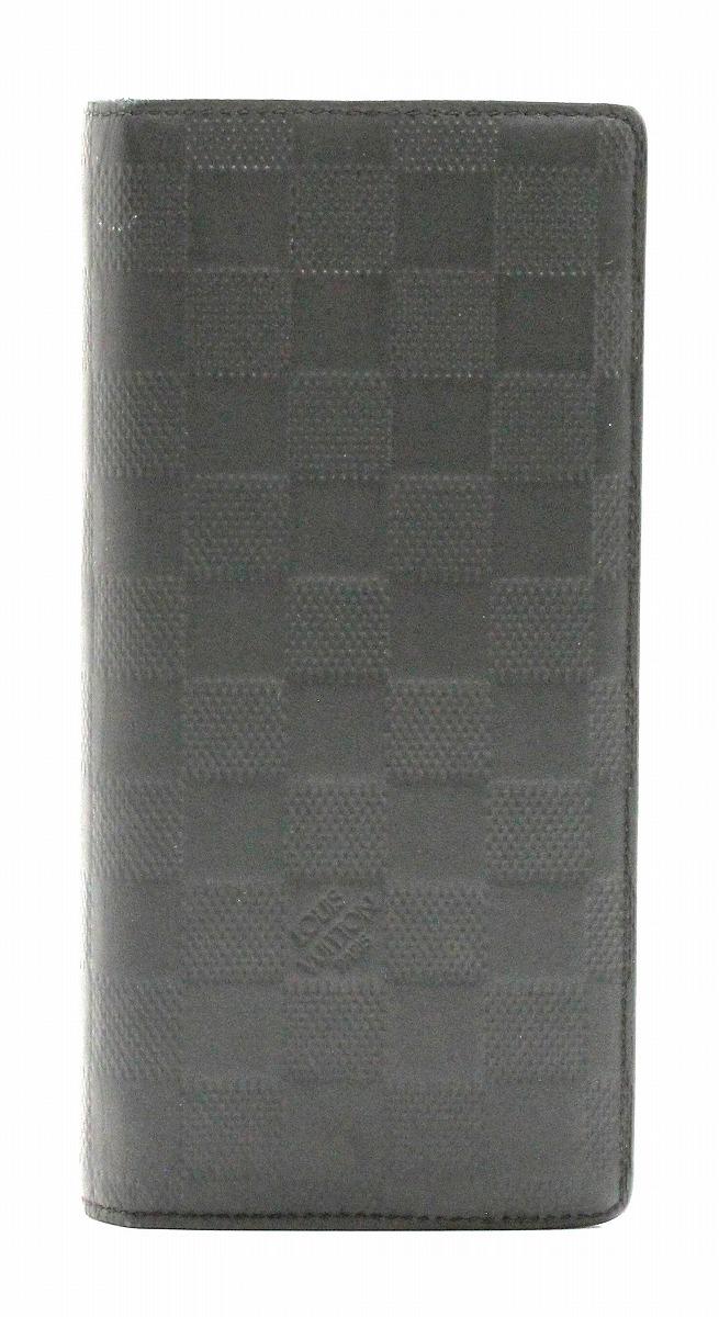 142f6bc49b69 ... フランクミュラー | 財布 | LOUIS VUITTON ルイ ヴィトン ダミエアンフィニ ポルトフォイユ ブラザ 2つ折長財布 レザー  オニキス 黒 ブラック N63010 | k