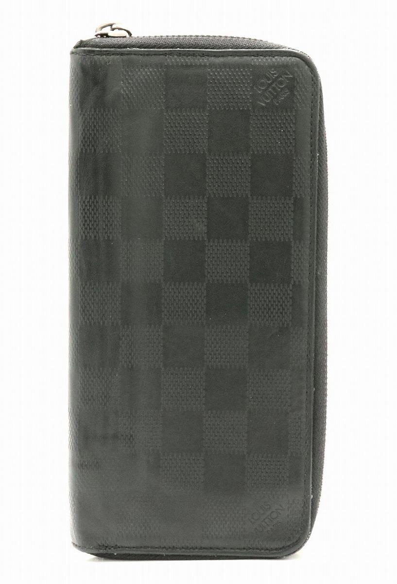 52cceff4288d ... 財布 | LOUIS VUITTON ルイ ヴィトン ダミエアンフィニ ジッピーウォレット ヴェルティカル ラウンドファスナー 長財布 レザー  オニキス 黒 ブラック N63548 | k