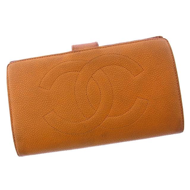 50eec11e9066 シャネル Chanel シャネル 長財布 財布 メンズ 財布 がま口 二つ折り ...