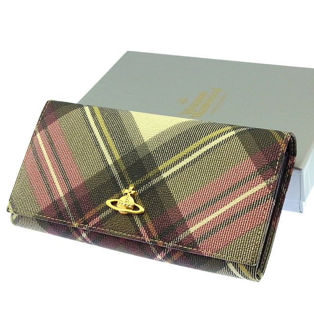 a6d86d8f2afe ... ピアス   ヴィヴィアン ウエストウッド Vivienne Westwood 長財布 財布 ファスナー 二つ折り ブラック×レッド×ゴールド系  オーブ×チェック レディース Y2762s .