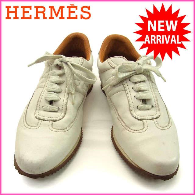8ca5ce2f02b8 ... スニーカー シューズ 靴 メンズ ♯37 クイック Hマーク ホワイト×ライトブラウン レザー (対応)人気 激安 Y887s 送料無料  ブランド バック 財布 プレゼント ギフト