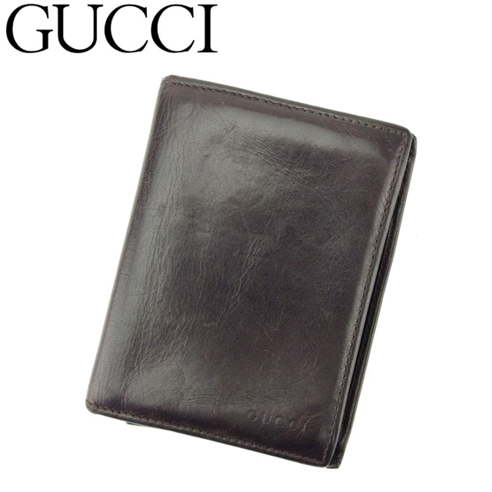 61928a13833f ... 財布 | メンズ | ミュウミュウ | ピアス | レディース | グッチ GUCCI カードケース 名刺入れ パスケース メンズ ロゴ  ブラウン レザー 人気 セール Q480 .