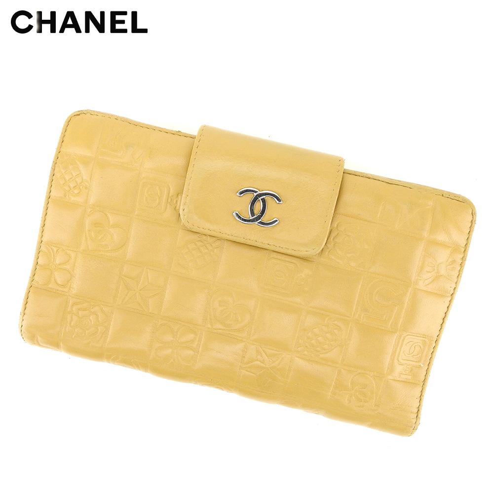 123071071607 ... ピアス   レディース   シャネル CHANEL 長財布 がま口 財布 メンズ可 ココマーク アイコンシリーズ ベージュ シルバー レザー  ヴィンテージ 良品 T8662 .