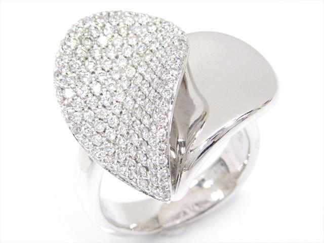 c4b7f8e63629 ... OMEGA | ブルガリ | BVLGARI | バック | ポンテヴェキオ ダイヤモンドリング 指輪 ブランドジュエリー レディース  K18WG ホワイトゴールド x ダイヤモンド