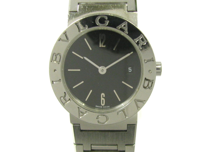 fb536b12e875 ... 腕時計ウォッチ時計レディースステンレススチール(SS)ブラック(. BVLGARI(ブルガリ)