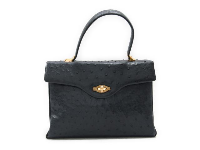 5acd3728749a ... ハンドバッグ レディース オーストリッチ ブラック系 | SELECTION ハンドバッグ バッグ バック BAG 鞄 カバン ブランドバッグ  ブランド ブランドオフ BRANDOFF