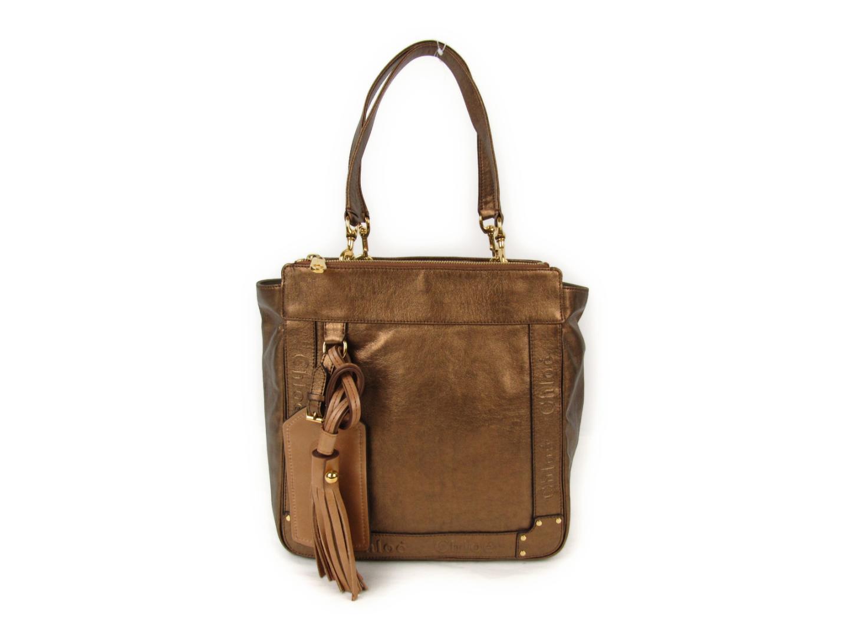 ac33b04435a7 ... クロエ トートバッグ レディース レザー ゴールド (3S11178A850091)   Chloe トートバック トート 肩がけ バッグ  バック BAG ブランドバッグ ブランドバック 鞄 ...