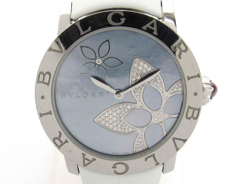 9b1114ee84f4 ... ステンレススチール(SS) X レザーベルト X ダイヤモンド (BBL37S)   BVLGARI オートマチック 時計 自動巻き ブルガリ  ブルガリ ダイヤ 美品 ブランド BRANDOFF
