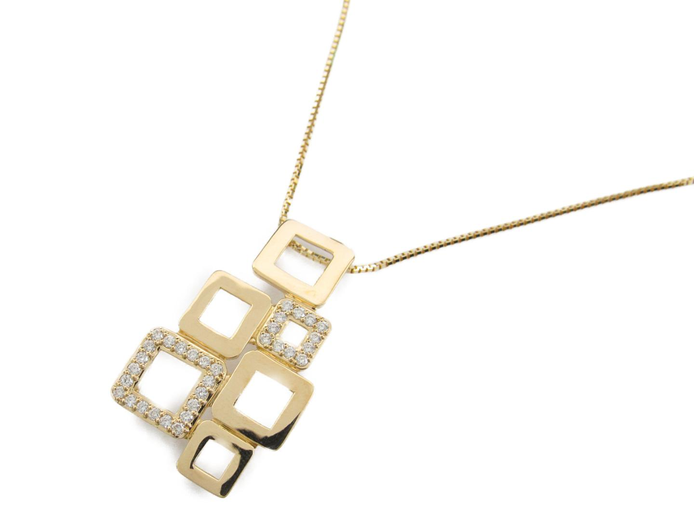 9a01e284f869 ... ジュエリー ダイヤモンド ネックレス レディース K18YG(750) イエローゴールド X ダイヤモンド0.32ct | JEWELRY  ネックレス K18 18K 18金 新品 ブランドオフ ...