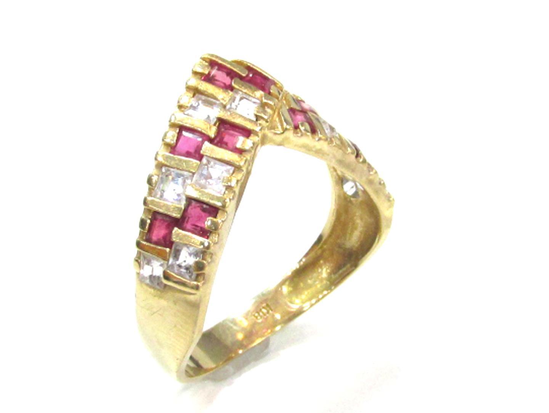 aa559c0db369 ... ダイヤモンド 指輪 メンズ レディース K18YG (750) イエローゴールド × ルビー × ダイヤモンド   JEWELRY リング  18K K18 18金 美品 ブランドオフ BRANDOFF