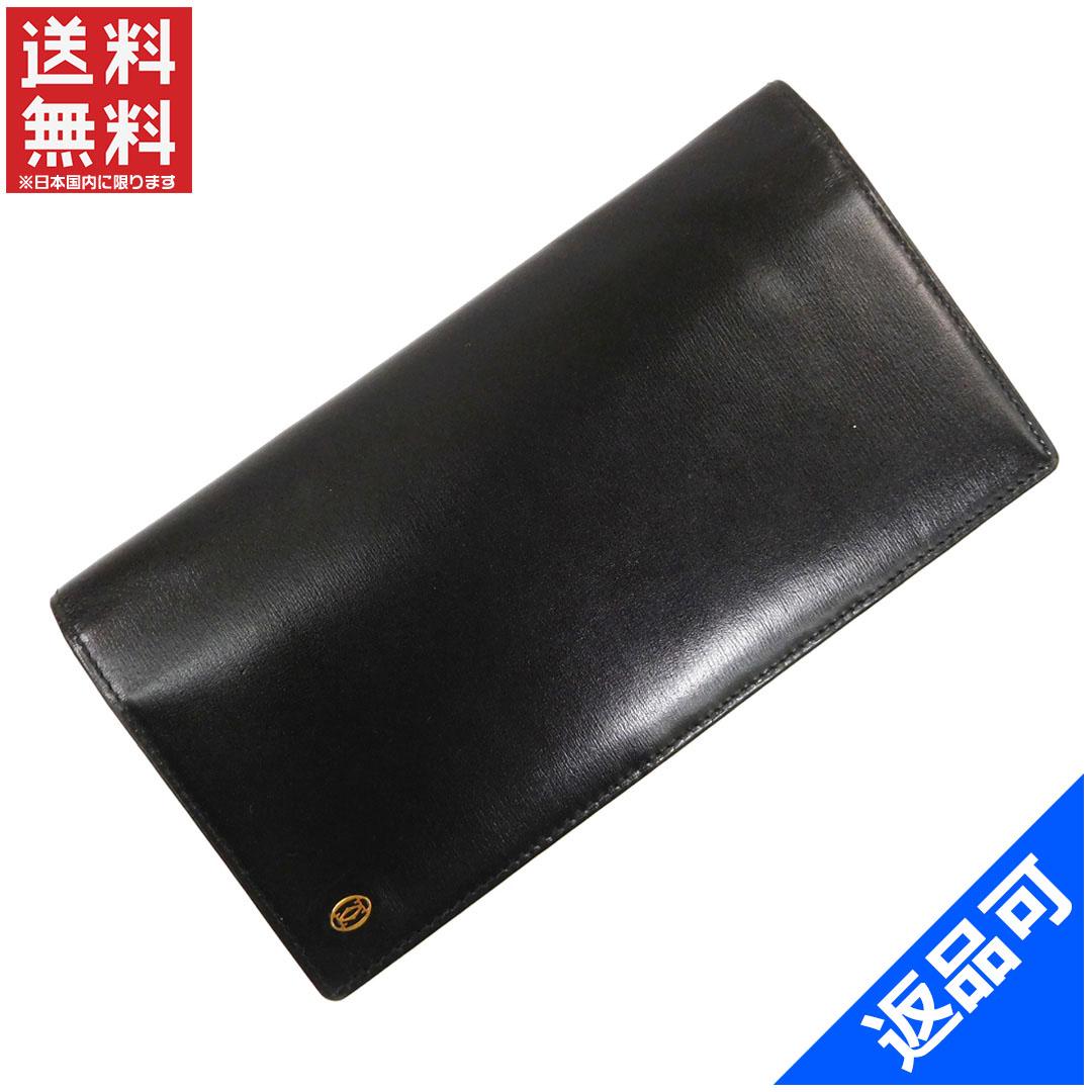 99d420bbbc1f 商品タイトル カルティエ Cartier 長財布 ファスナー 二つ折り 2Cモチーフ ブラック×ゴールド レザー 美品 人気 【】 X7855  状態コメント コキズ シワ(小) あり。