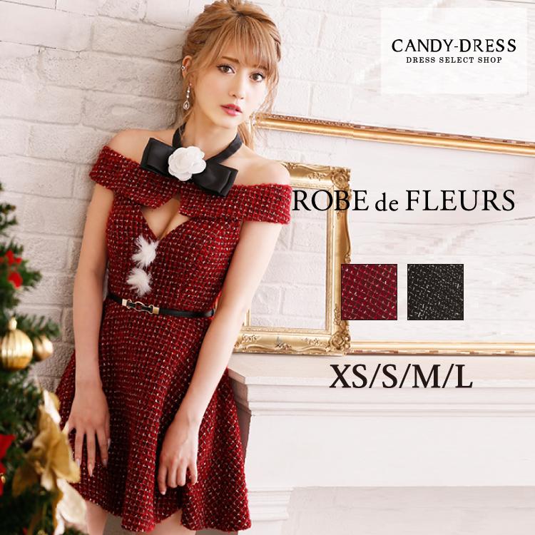 d17eea88b364c XS S M L キャバ嬢 送料無料 ROBE an de FLEURS ドレス  ローブド ...