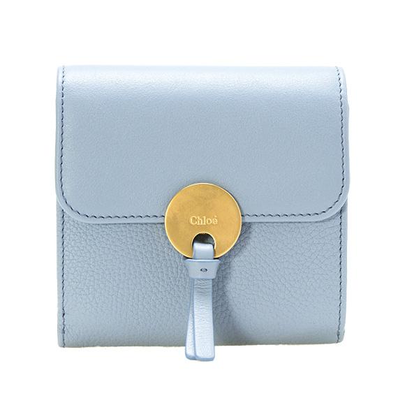cd2fe9025f63 ... クロエ CHLOE 財布 レディース 三つ折り財布 INDY SQUARE WALLET [インディー] ウォッシュドブルー  CHC16UP811 | / 3P0811 H8J 4E2 WASHED BLUE
