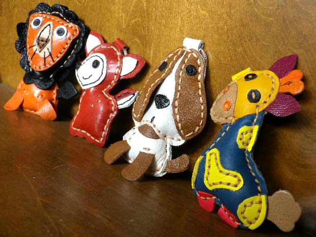 好★ ★ 手工制作的皮可爱钥匙扣工具手工制作的皮皮革钥匙圈猴子牧羊