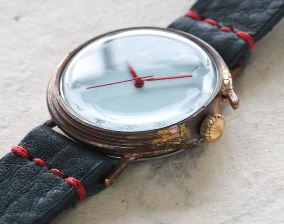 山田yoko的手工制作的表·手佣人手表女士本皮革皮带摩登古董风格模拟